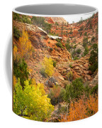 Rough Terrain In Autumn Along Zion-mount Carmel Highway In Zion Np-ut Coffee Mug