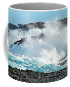 Rough Waves Offshore Whale Point Coffee Mug