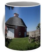 Round Barn Wooden Wagon Coffee Mug