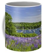 Round Pond Lupine Flowers On The Coast Of Maine Coffee Mug