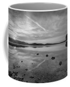 Round Valley Sunburst Bw  Coffee Mug