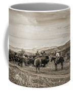 Rounding Up Cattle In Cornville Arizona Sepia Coffee Mug