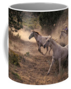 Rounding Up Horses On The Ranch Coffee Mug
