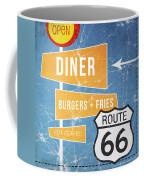 Route 66 Diner Coffee Mug by Linda Woods