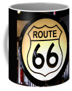 Route 66 Lighted Sign Coffee Mug