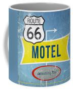 Route 66 Motel Coffee Mug by Linda Woods