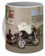 Route 66 Motorcycles With A Dry Brush Effect Coffee Mug