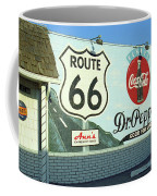 Route 66 - Mural With Shield Coffee Mug