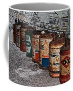 Route 66 Odell Il Gas Station Oil Cans Digital Art Coffee Mug