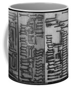 Route 66 Odell Il Gas Station Tools Black And White Coffee Mug