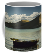 Row Boat On Silver Lake With Dunes Coffee Mug