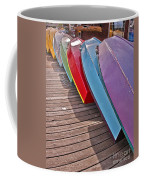 Row Of Colorful Boats Art Prints Coffee Mug