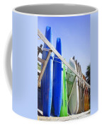 Row Of Kayaks Coffee Mug