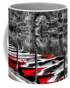 Row Of Red Rowing Boats Coffee Mug