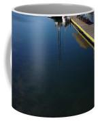 Rowboat On Navy Blue Coffee Mug