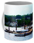 Rowboats Piled At Dock Coffee Mug