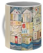 Rowhouses Triptych Coffee Mug
