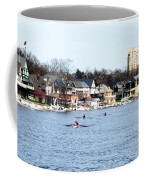 Rowing At Boathouse Row Coffee Mug