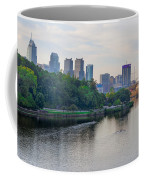 Rowing On The Schuylkill Riverwith Philadelphia Cityscape In Vie Coffee Mug