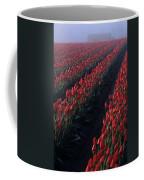 Rows Of Red Tulips Coffee Mug