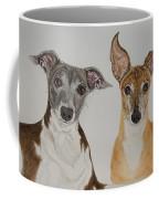 Roxie And Bruno The Greyhounds Coffee Mug
