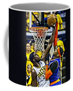 Roy Hibbert Vs Carmelo Anthony Coffee Mug by Florian Rodarte