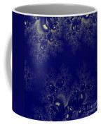 Royal Blue Frost Fractal Coffee Mug