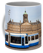 Royal Palace And Trams In Amsterdam Coffee Mug