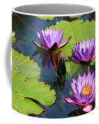 Royal Purple Water Lilies Coffee Mug