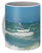 Royal Tern Frenzy Coffee Mug by Kim Hojnacki