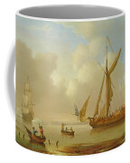 Royal Yacht Becalmed At Anchor Coffee Mug