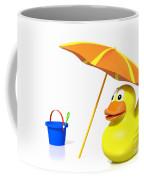 Rubber Duck At The Beach Coffee Mug