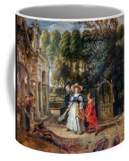 Rubens In His Garden With Helena Fourment Coffee Mug