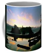 Ruby Beach Sunset Olympic National Park Coffee Mug