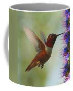 Ruby Throated Hummingbird Digital Art Coffee Mug