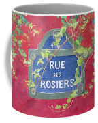 Rue Des Rosiers In Paris Coffee Mug