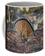 Ruffed Grouse Rear Strut Coffee Mug