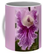 Ruffly Purple Orchid Closeup Coffee Mug