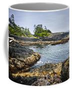 Rugged Coast Of Pacific Ocean On Vancouver Island Coffee Mug