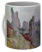 Ruins In The Fog At Crozant Coffee Mug by Jean Baptiste Armand Guillaumin