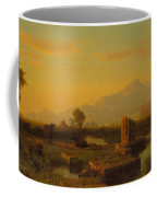 Ruins Of Paestum Coffee Mug by Albert Bierstadt
