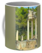 Ruins Of Roman Columns In Glanum  Coffee Mug