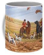 Run Fox Run Hunting Painting Commission Coffee Mug