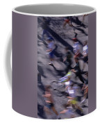 Runners Along Street In A Marathon Blurred And Abstract Coffee Mug