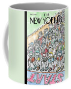 Runners Gather At The Starting Line Coffee Mug
