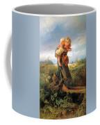 Running Away Form A Thunderstorm Coffee Mug
