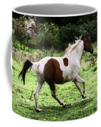 Running Pinto Horse Coffee Mug