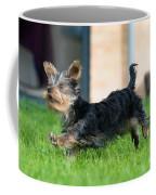 Running Puppy Coffee Mug