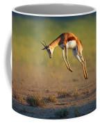 Running Springbok Jumping High Coffee Mug