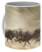 Running Wildebeest I Coffee Mug